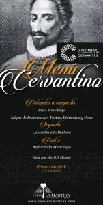 Menu in honor of Cervantes
