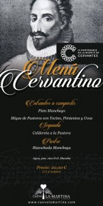 Menu in honor of Cervantes